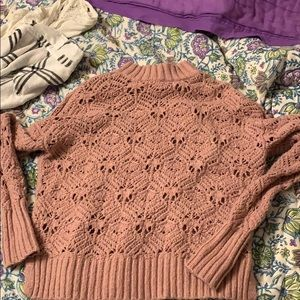 Blush pink knit sweater